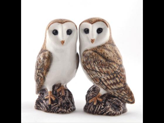 Salt- og pepper Ugle / Owl - fra Quail