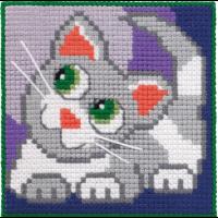 Barnebroderi - Katt
