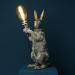 Kaninlampe sølv