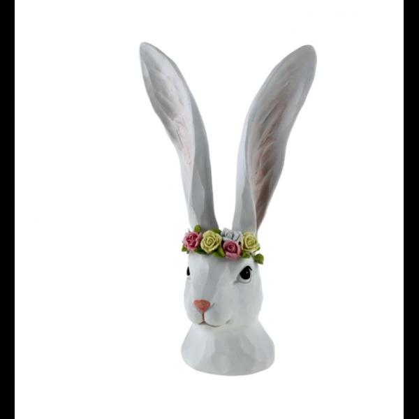 Hare med blomster