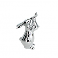 Kissing rabbits silver