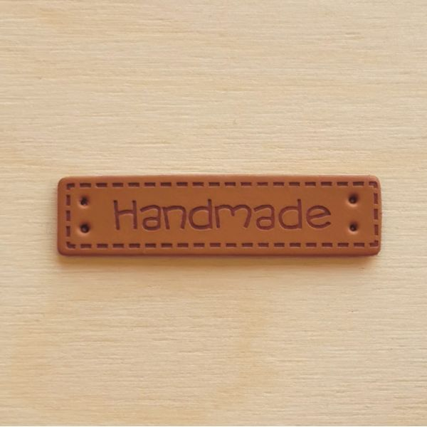 Merkelapp Skinn -  Handmade