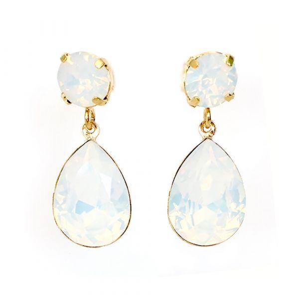 Twins Atelier Øredobber - Fancy White Opal