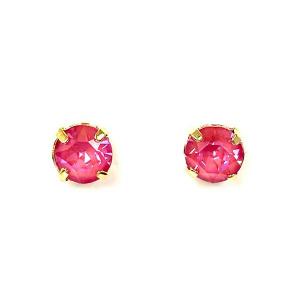Twins Atelier Øredobber - Shine Round Lotus Pink DeLite