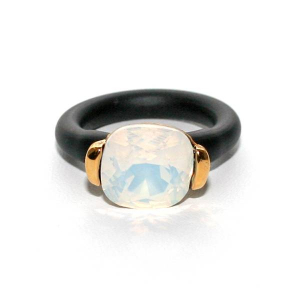 Twins Atelier Ring - White Opal Gold