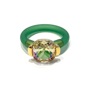 Twins Atelier Ring - Luminious Green Gold