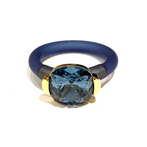 Twins Atelier Ring - Denim Blue Gold