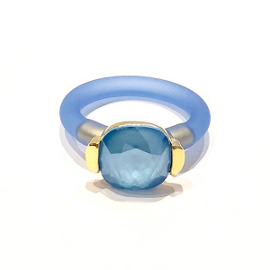 Twins Atelier Ring - Marina Blue Gold