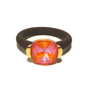 Twins Atelier Ring - Orange Glow DeLite Gold