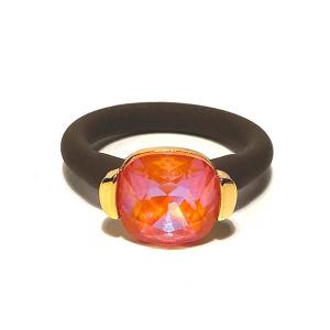Twins Atelier Ring - Orange Glow DeLite Gold