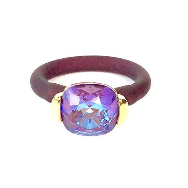 Twins Atelier Ring - Burgundy DeLite Gold