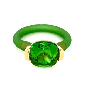 Twins Atelier Ring - Fern Green Gold