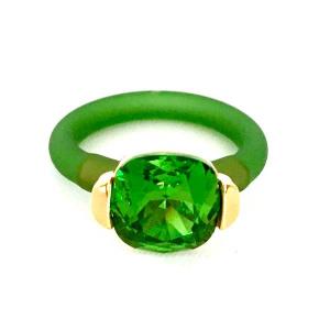 Twins Atelier Ring - Fern Green Gold