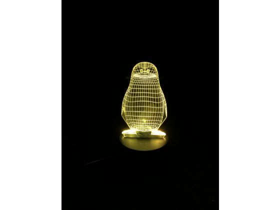 3D Lampe - Pingvin