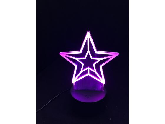 3D Lampe - Julestjerne 1