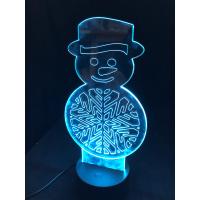 3D Lampe - Snømann