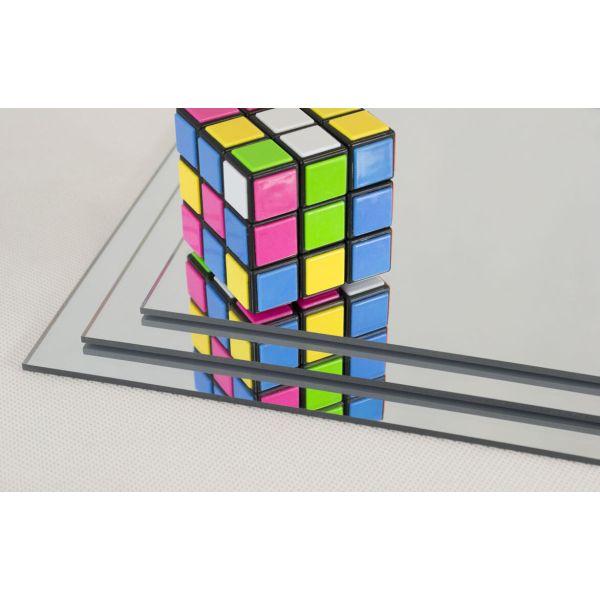 Akryl 3mm sølv speil 60x37,5cm