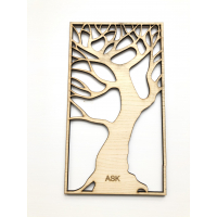 MDF Finert Ask 4mm 30x21cm