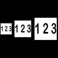 Husnummer 15x15cm