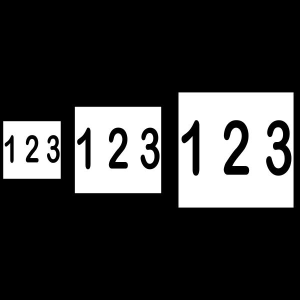Nummerskilt 15x15cm
