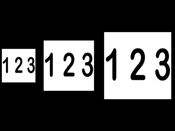 Husnummer 10x10cm