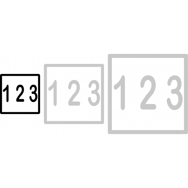 Nummerskilt 10x10cm