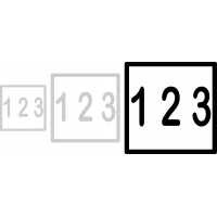 Husnummer 20x20cm