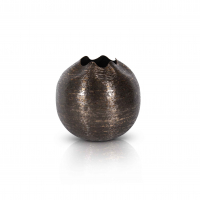 Rund vase bronsefarget