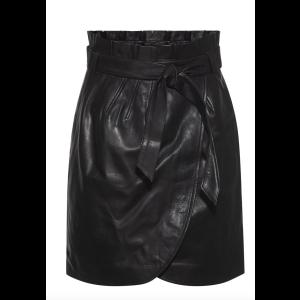Alberta leather skirt