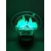 3D Lampe - Harry potter hogwarts disney