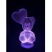 3D Lampe - Bamse 1