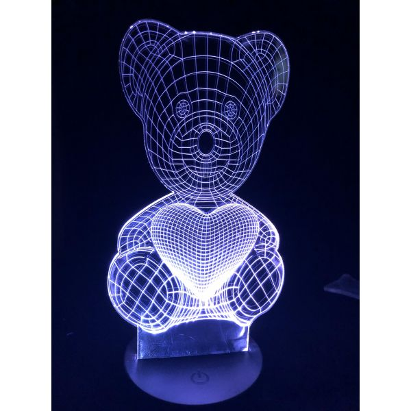 3D Lampe - Bamse 2