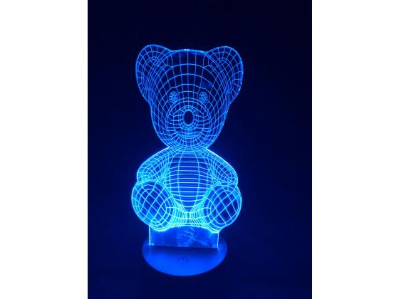 3D Lampe - Bamse 3
