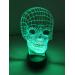 3D Lampe - Hodeskalle