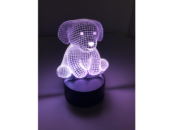 3D Lampe - Hund 1