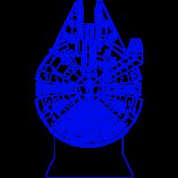 3D Lampe - Millenium falcon