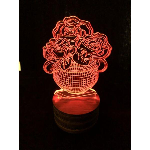 3D Lampe - Vase 2