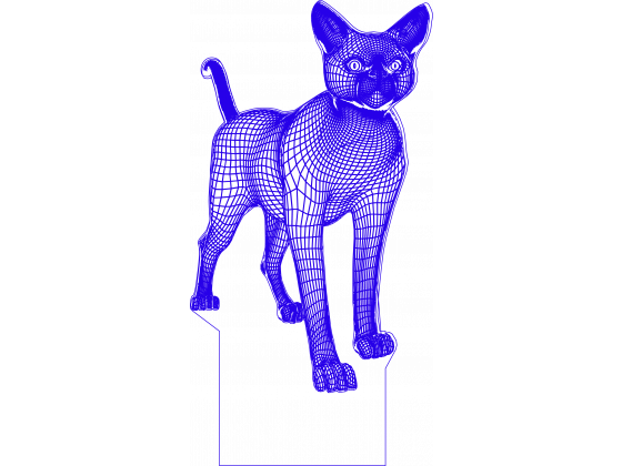 3D Lampe - Katt 1