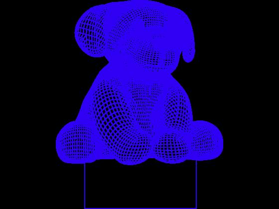 3D Lampe - Hund 2