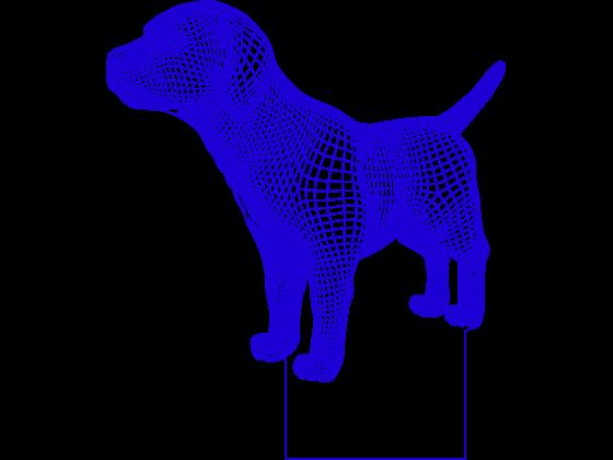 3D Lampe - Hund 3