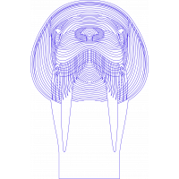 3D Lampe - Hvalross