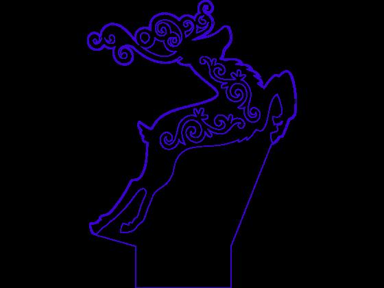 3D Lampe - Reinsdyr