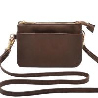 Anna dk brown gold Zipper Pocket 696911