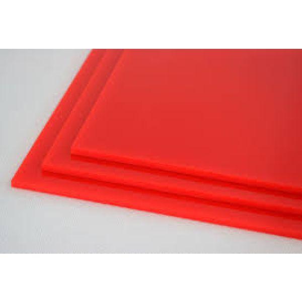 Akryl 3mm rød 60x037,5cm