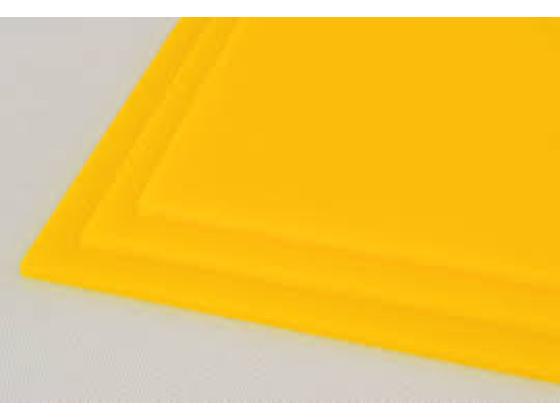 Akryl  3mm gul 60x037,5cm