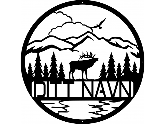 Monogram Fjell og skog