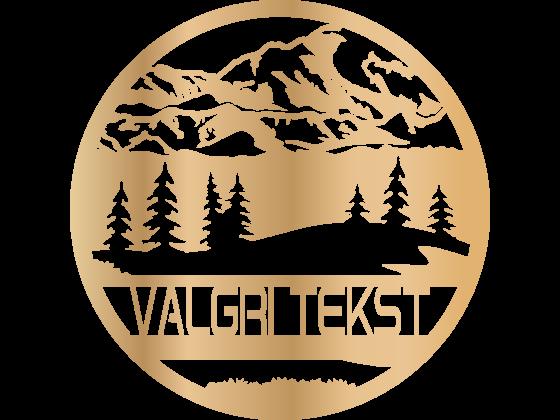 Monogram fjell - Valgfri tekst