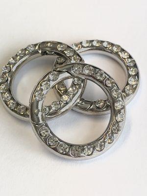 Nøkkelring med diamanter - 25mm