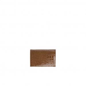 Lommebok folded croco brownish