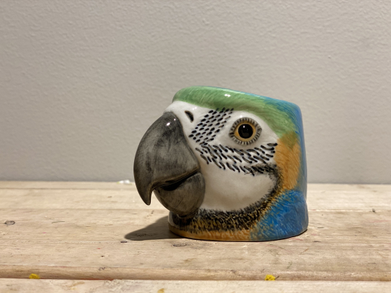 Papegøye eggeglass - Quai Ceramics
